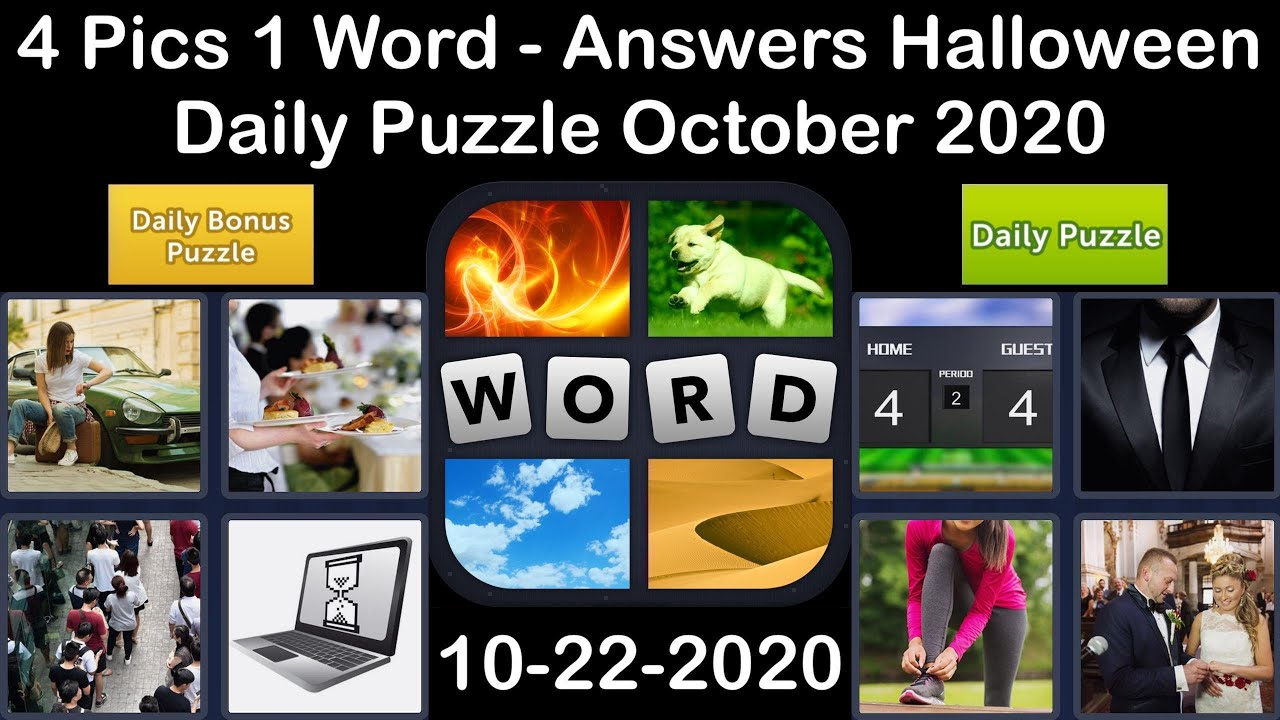 4 Pics 1 Word - Halloween - 22 October 2020 - Daily Puzzle + Daily Bonus Puzzle - Answer-Walkthrough