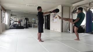 極真空手 第50回全日本記念大会に向け  安島喬平 つくば道場 後ろ回し蹴り 鴨志田裕寿 茨城 つくば
