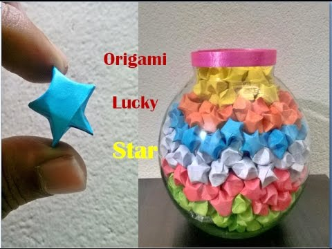 origami lucky stars || DIY || paper stars || lucky stars ... - photo#11