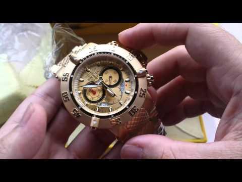 6dd19dab931 Relógio Invicta subaqua referencia 5403 plaquê ouro original - YouTube