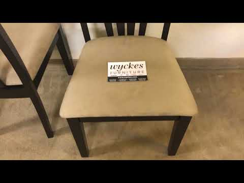 Coaster 101072 Fan Back DIning Chair Microfiber Seating