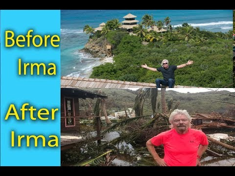 Necker Island, before and after Hurricane Irma, Sir Richard Branson's Necker Island home