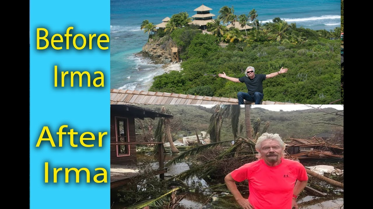 Necker Island Before And After Hurricane Irma Sir