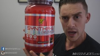 BSN Syntha-6 EDGE Protein Powder Supplement Review  - MassiveJoes.com RAW REVIEW Syntha6