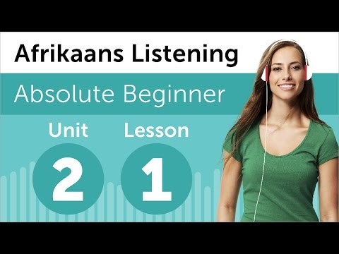 Afrikaans Listening Practice - Seeing a Movie in South Africa