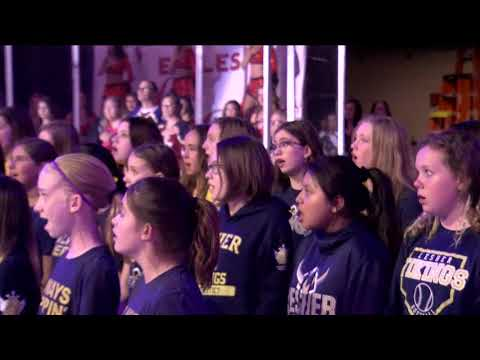 The Lesher Middle School Choir Performs the National Anthem