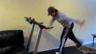 SHALAXO armenian dance on treadmill