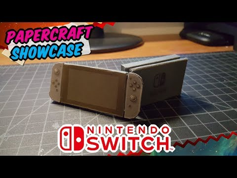 Tiny Nintendo Switch Papercraft  (1½ inch model)