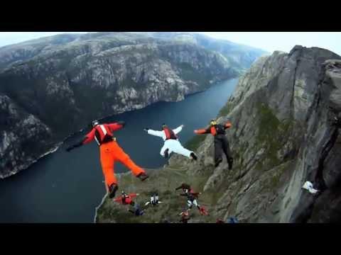 Затяжные прыжки со скалы в костюме-крыле 2013 (HD)