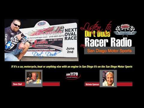 Barona Speedway News on Racer Radio with Dave Stall 5-20-2018