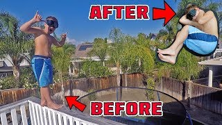 TRAMPOLINE VS ROOF JUMPING WITH DRUNK GOOGLES!