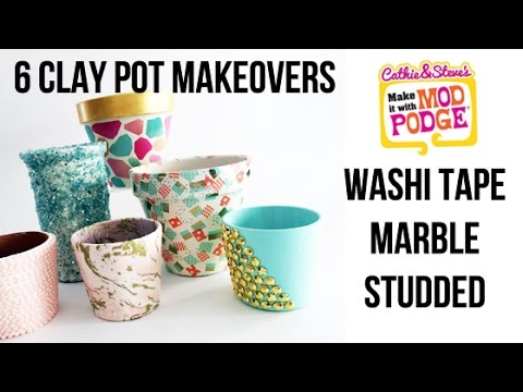 6 Easy Clay Pot Makeovers