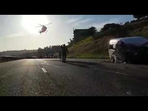 Helicopter lands on N2 freeway following horrific accident