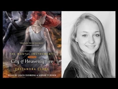 Sophie Turner and Cassandra Clare on CITY OF HEAVENLY FIRE