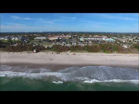 Drone Flight over Howard E. Futch Memorial Park and Paradise Beach in Melbourne, Florida