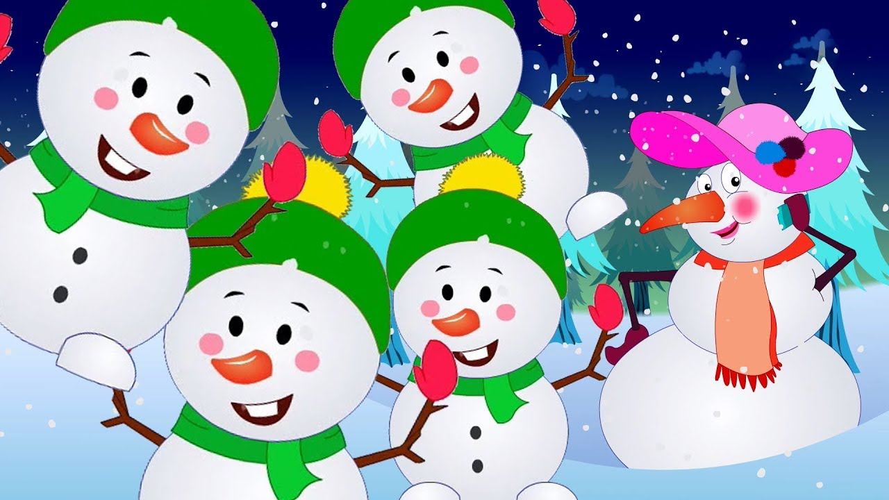 Cinco Boneco Neve Pequeno Desenho Infantil Video Para Criancas