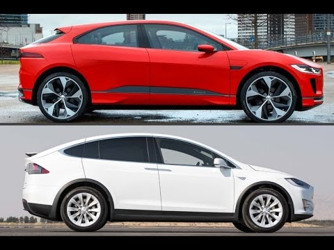 2018 jaguar i pace vs 2017 tesla model x youtube. Black Bedroom Furniture Sets. Home Design Ideas