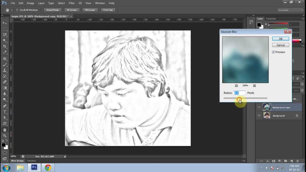 Tạo ảnh vẽ chì bằng photoshop