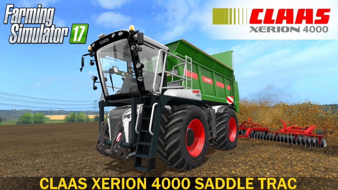 farming simulator 17 claas xerion 4000 saddle trac - youtube