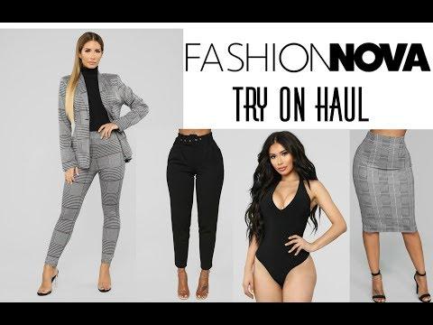 Fashion Nova WEAR TO WORK Try On Haul