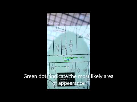 Wi-Fi RSS based indoor positioning system demo