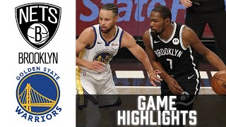 <b>Nets</b> vs Warriors HIGHLIGHTS Full Game | NBA February 13 ...