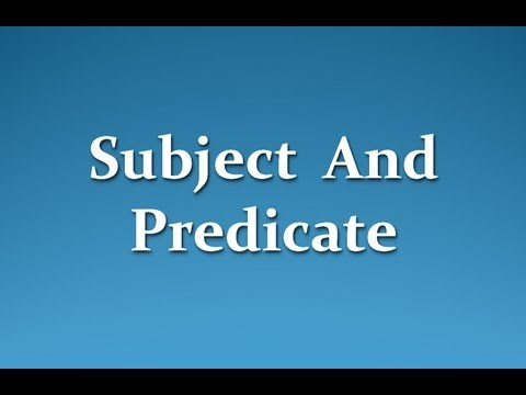 predicates and subjects online dating