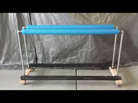DIY Kayak Stand Work Station and Storage Shelf
