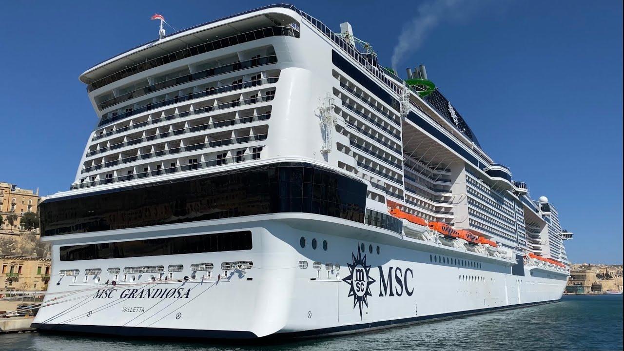 MSC Grandiosa Cruise Ship Walking Tour 4K - YouTube
