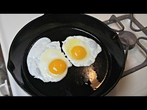 Cast Iron Skillet Non Stick Fried Eggs