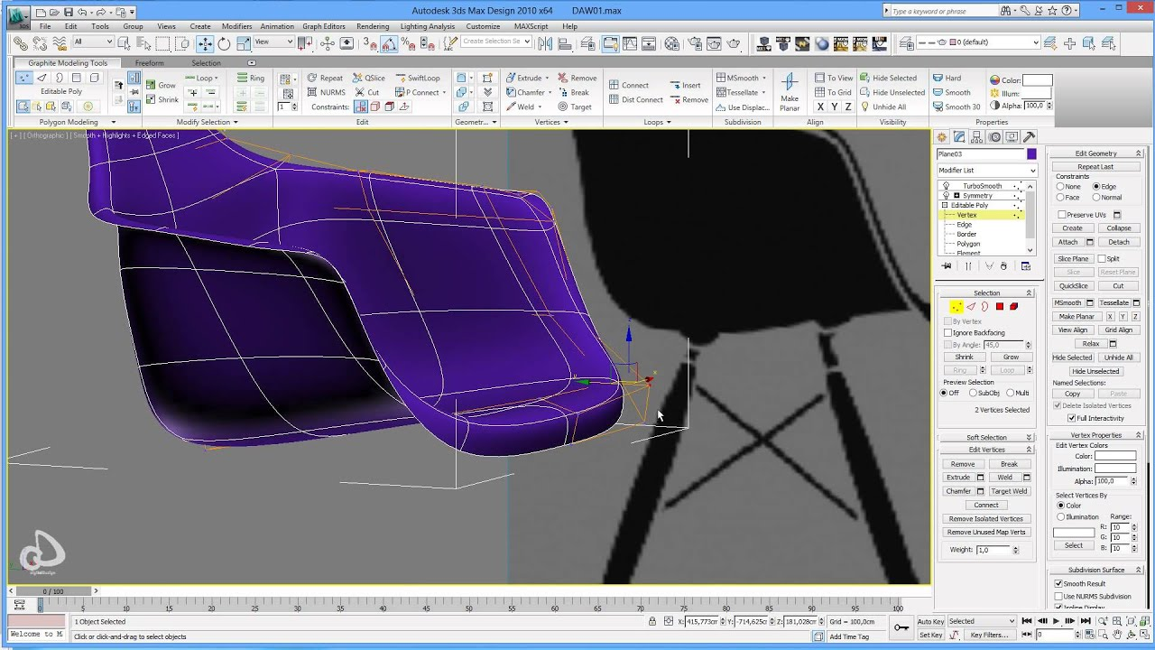 Armchair On Youtube Eames Plastic Armchair Daw Speed Modeling Part 1 Youtube