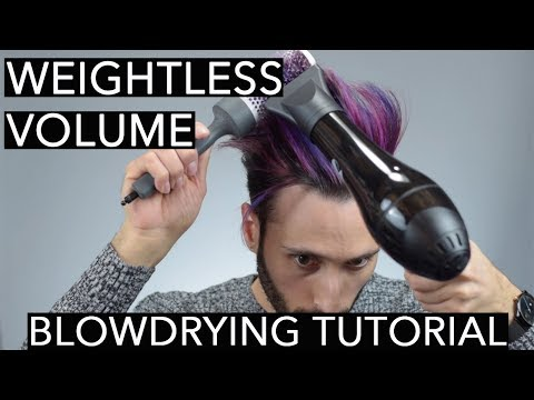 Blowdrying Techniques for Weightless Volume   Hair Styling Tutorial