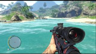 Far Cry 3 - Xbox 360 - Shark Hunting with Unlocked Weapons
