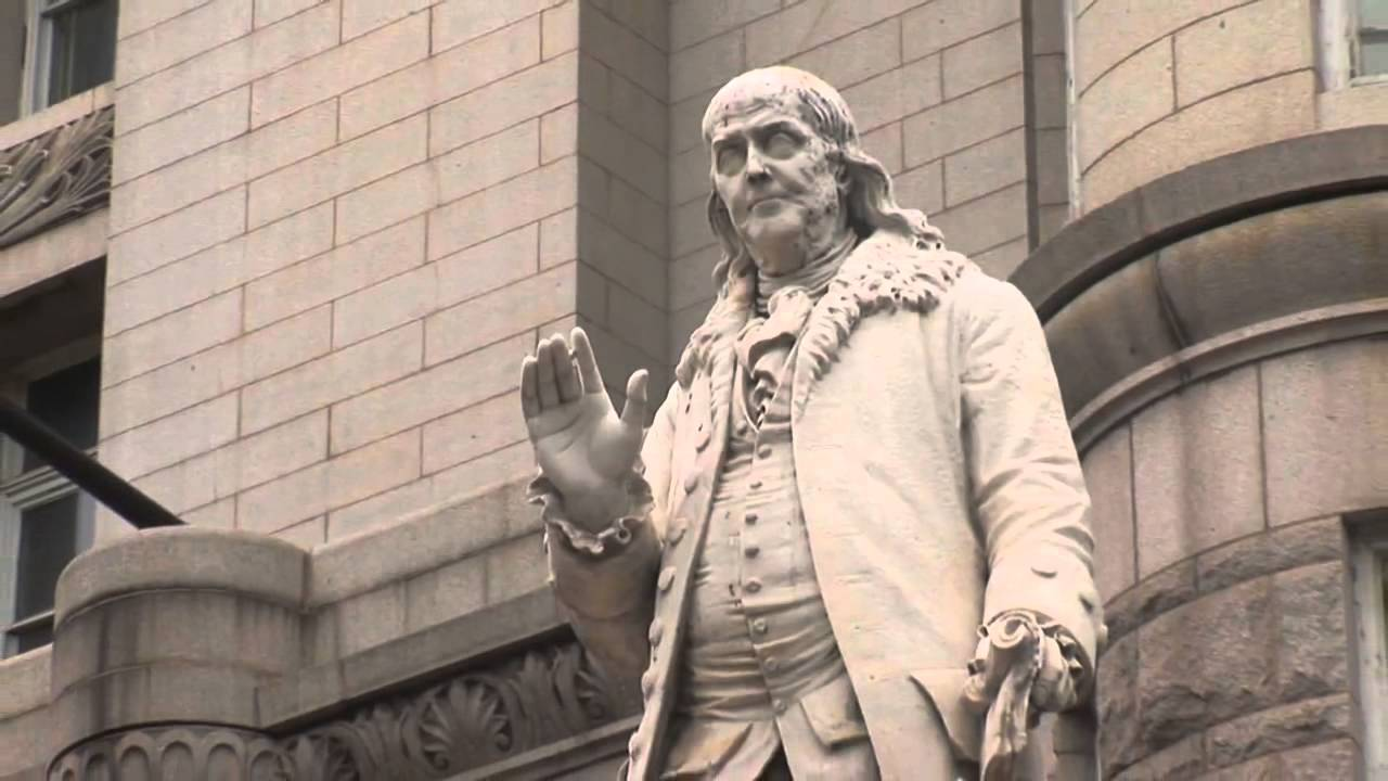 Benjamin Franklin Statue In Front Of The Old Post Office In Washington, DC