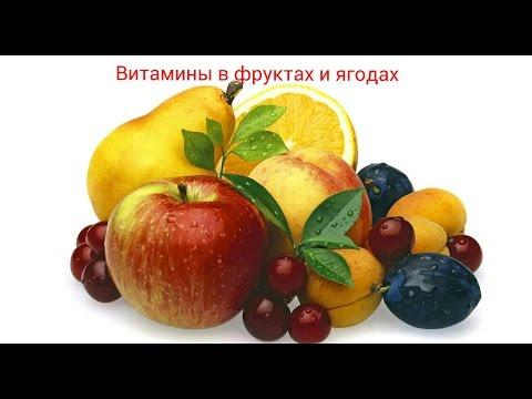 Витамины в фруктах и ягодах