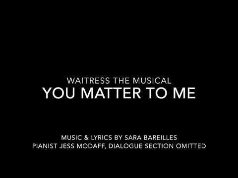 You Matter to Me from Waitress - Piano...