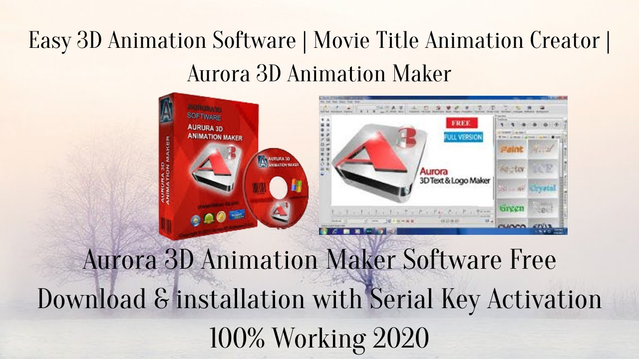 Aurora 3d Text Logo Maker Software Free Download Install And Without Watermark 100 Working 2020 Youtube