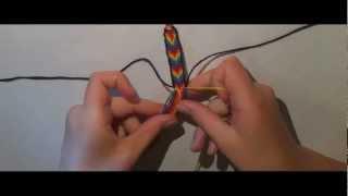 Плетение фенечек: Радуга с рамкой. Урок 2!