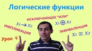 Урок 4. Логические функции. Математическая логика. Видеоуроки по информатике