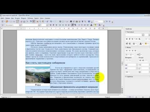Занятие 2. Работа в окне OpenOffice Writer