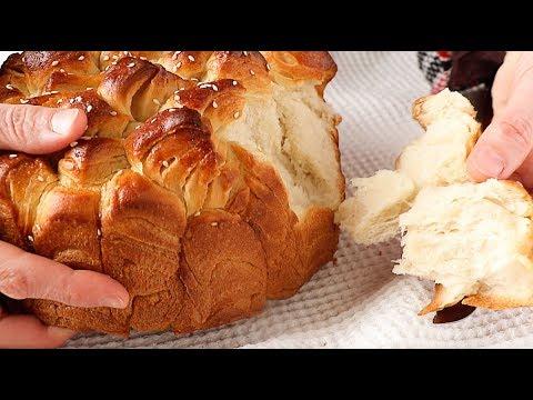 Pan casero muy esponjoso y fácil de hacer - Receta de pan volandero