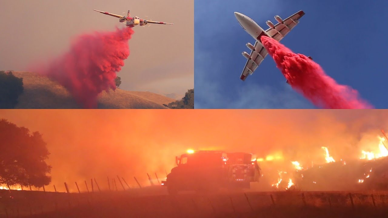 """""""Crews Fire"""" Wildfire Damages Structures, Prompts Evacuations in Gilroy, CA."""