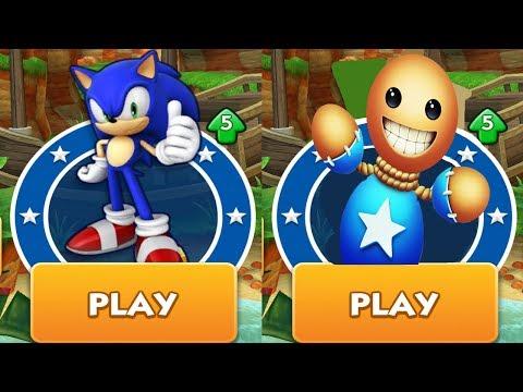 Sonic Dash VS Buddyman Run Android Gameplay
