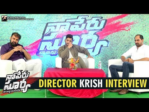 Director Krish Interview | Naa Peru Surya...