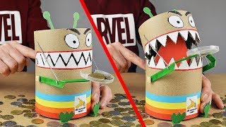 How to make Toy Trash Can COIN BOX