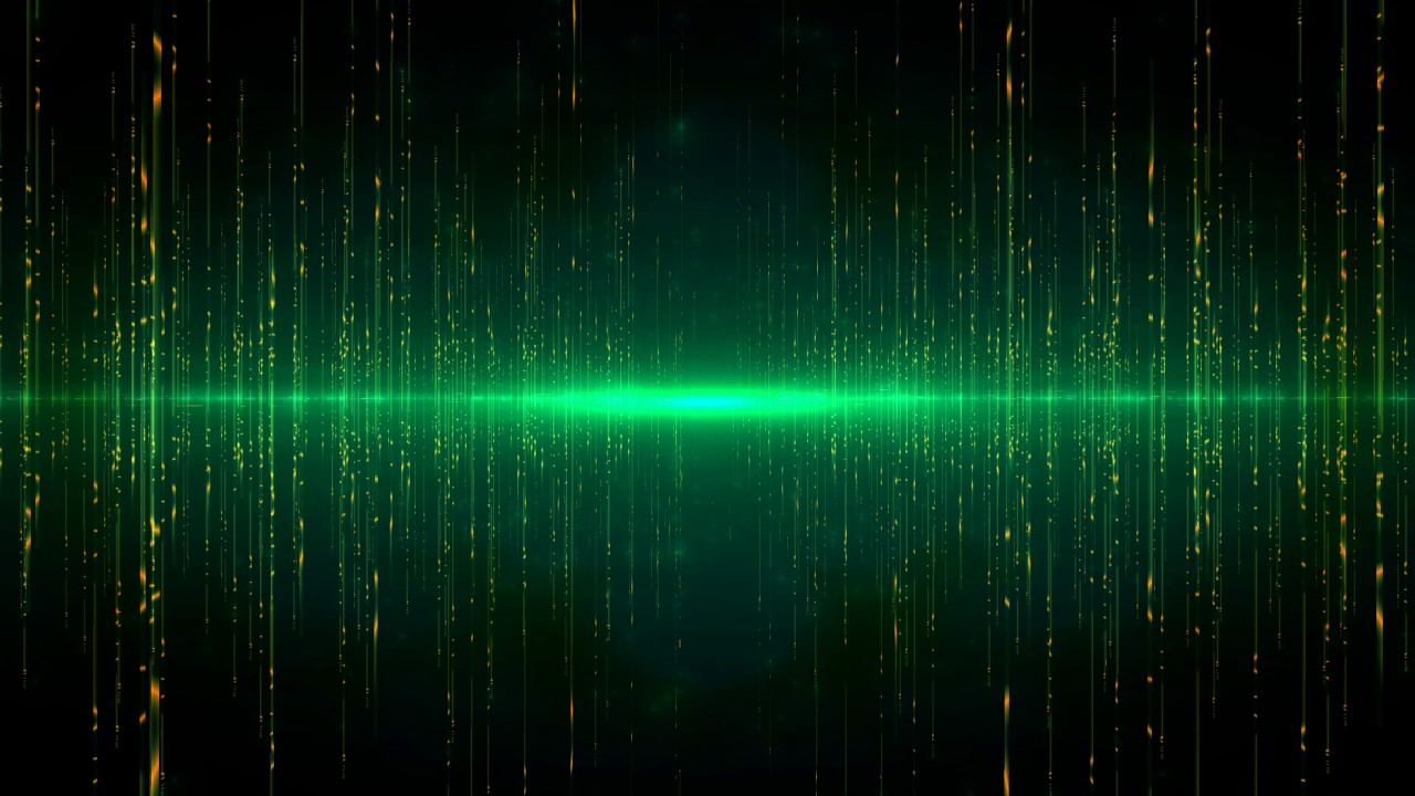 4K 10:00 min  Green Matrix Glowing Motion Background 2160p Efect