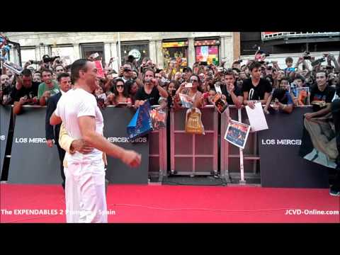 Jean-Claude Van Damme - The Expendables 2 Premiere | Spain