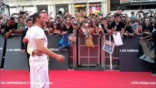 Jean-Claude Van Damme - The Expendables 2 Premiere   Spain