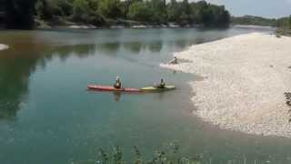 Video canoe camping plages de l'Ain