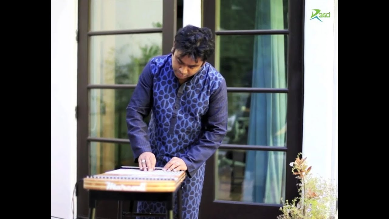A.R.Rahman playing the Harpejji